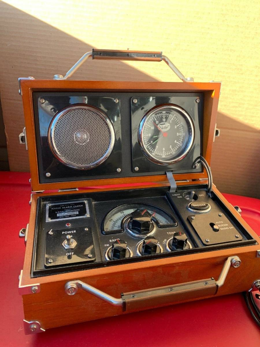 アラーム時計 ラジオ 時計 木製 FM/AM