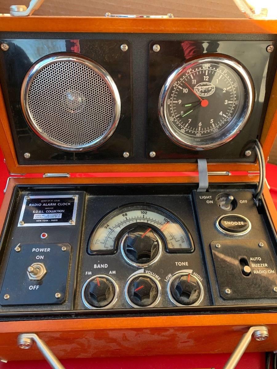 アラーム時計 ラジオ 時計 木製 FM/AM_画像2