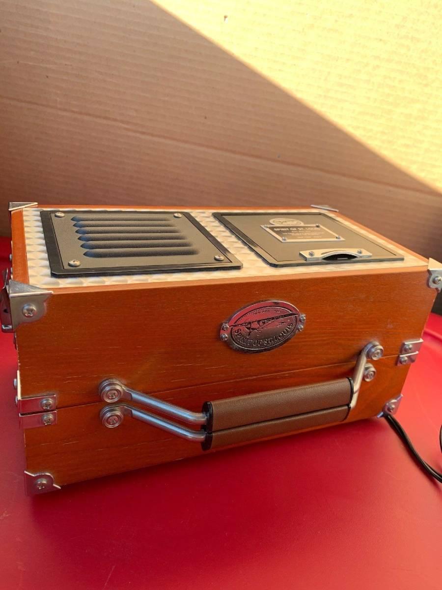 アラーム時計 ラジオ 時計 木製 FM/AM_画像3