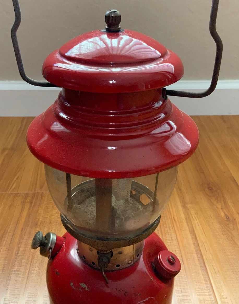 Coleman コールマン ランタン 赤 モデル200A アメリカ製 希少品_画像3