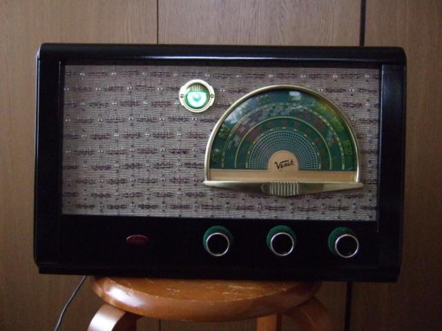 マジックアイ付標準5球スーパーラジオ(整備済み)-1