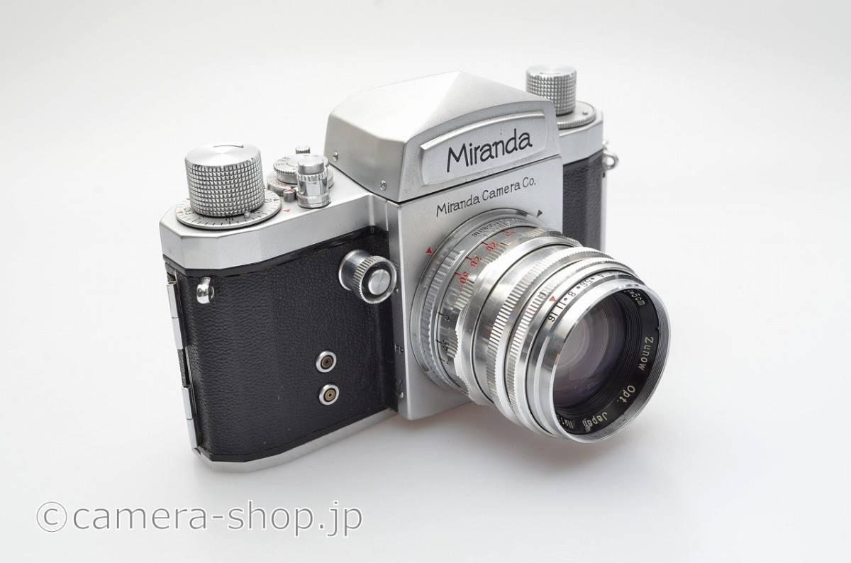 ミランダ 大口径 ズノーF1.9 付き Miranda T with Zunow 1,9/50, Lcap,instruction,case, hood+filter_画像3