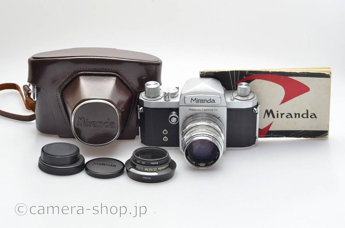 ミランダ 大口径 ズノーF1.9 付き Miranda T with Zunow 1,9/50, Lcap,instruction,case, hood+filter