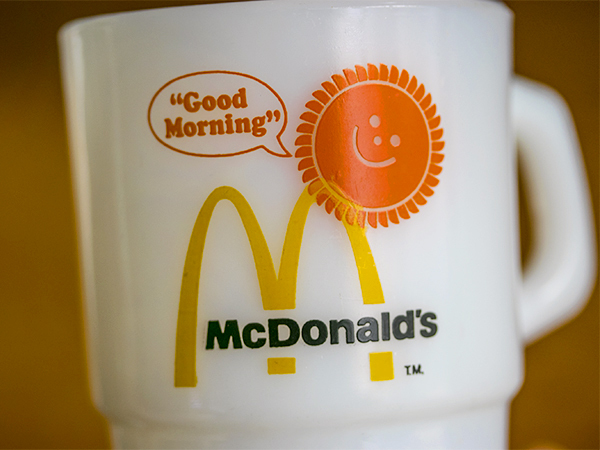 美品! ファイヤーキング マグ マクドナルド マック スタッキング 耐熱 ミルクグラス コーヒー ビンテージ カップ_画像2