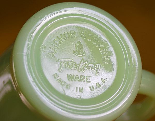 ファイヤーキング マグ ジェダイ Dハンドル 耐熱 ミルクグラス コーヒー アメリカ ビンテージ_画像3