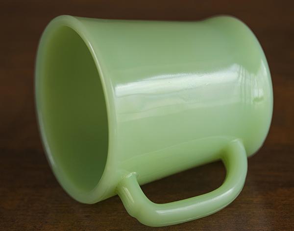 ファイヤーキング マグ ジェダイ Dハンドル 耐熱 ミルクグラス コーヒー ビンテージ アメリカ_画像2