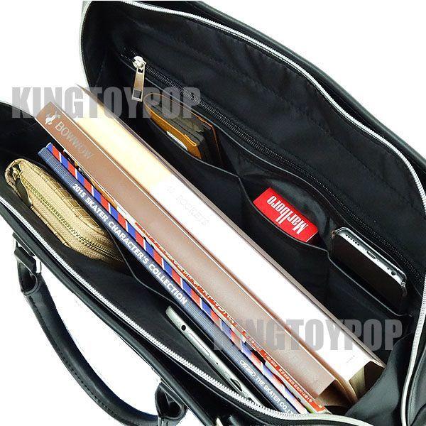JACK DEAN 2WAY メンズ ビジネスバッグ リクルートバッグ 新生活 通勤バッグ カバン 鞄 ストライプ 人気 ブリーフケース ブラック 黒色☆_画像2