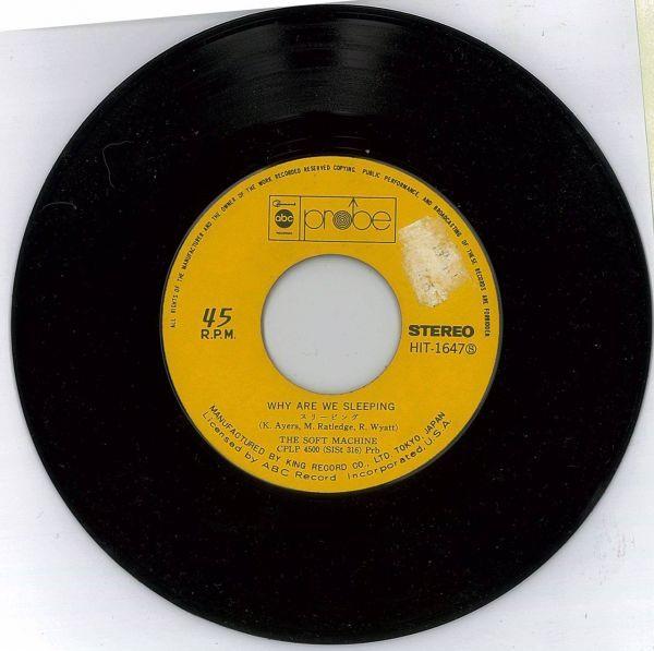 ザ・ソフト・マシーン / スリーピング【国内盤EP】The Soft Machine / Why Are We Sleeping?_画像4