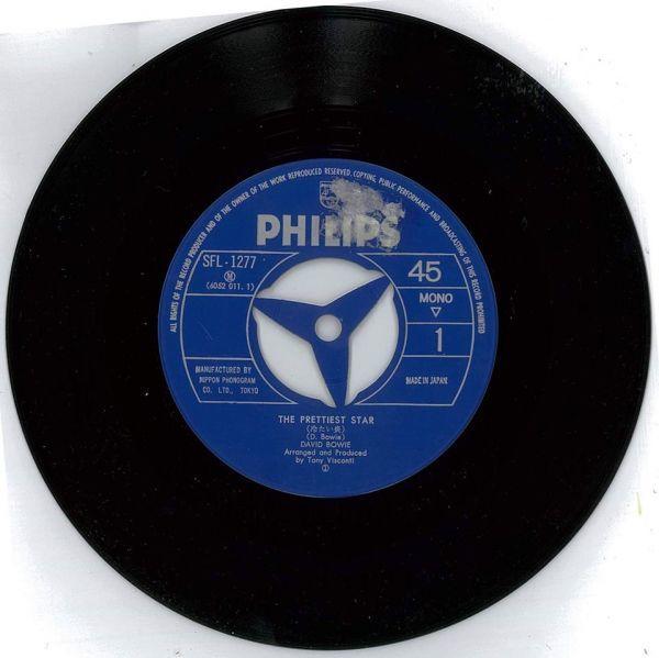 デビッド・ボゥイ / 冷たい炎【PHILIPS SFL-1277】David Bowie / Prettiest Star_画像5