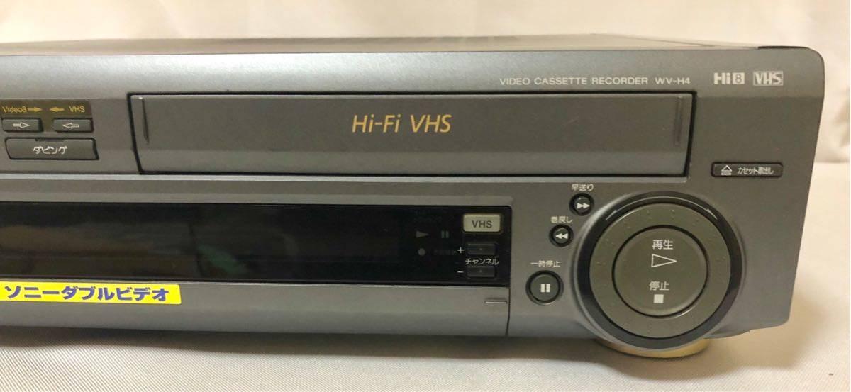 ★SONY/ソニー WV-H4 Hi8/VHS ビデオデッキ リモコン付き ジャンク☆_画像3