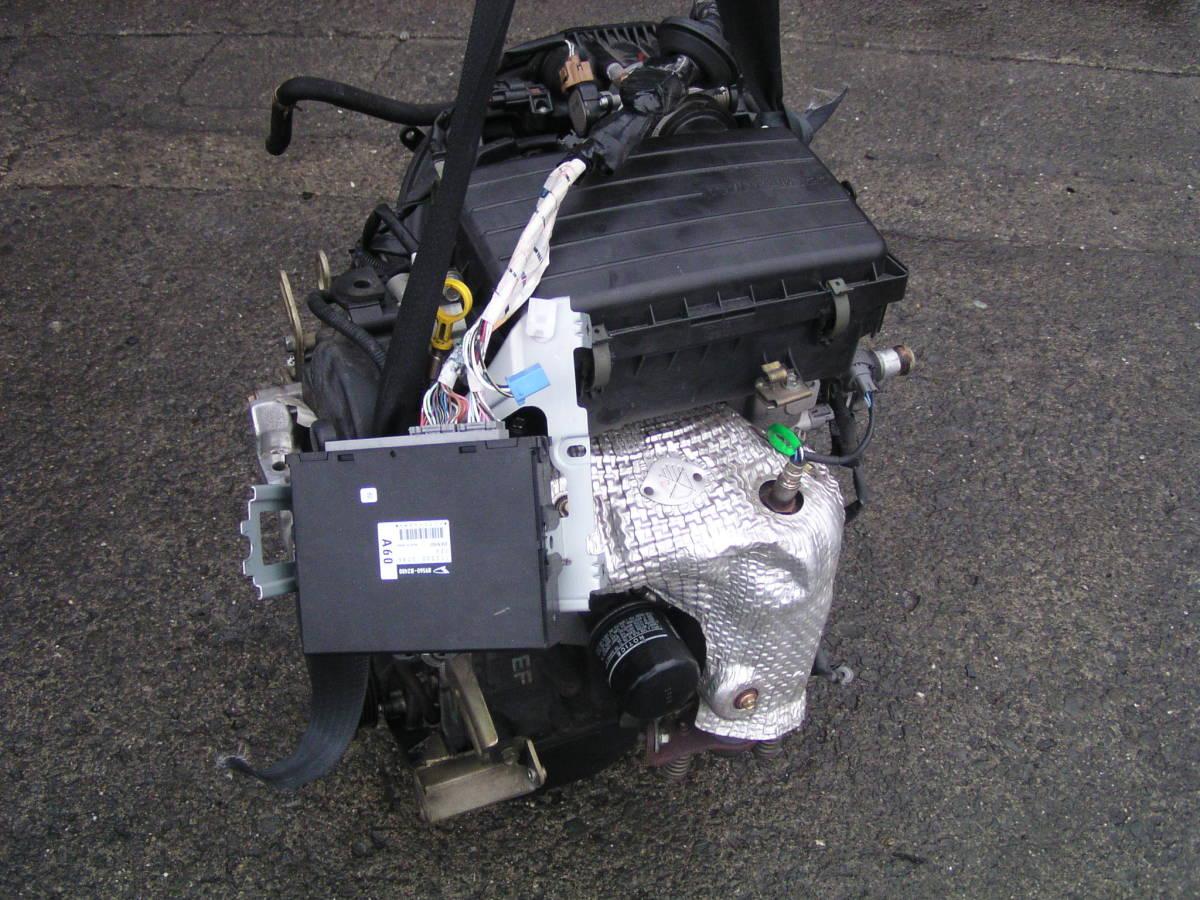 後期 ムーブ L150S EF-VE エンジン ハーネス コンピューター付き_画像2
