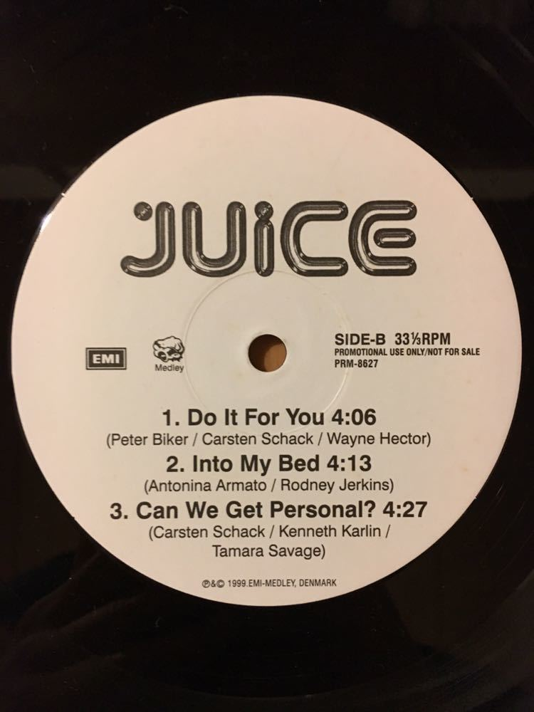 [White запись on Lee EP]JUICE / CAN WE GET PERSONAL ALBUM SAMPLER (TLC,CAMP LO,DINASTY,10CC)