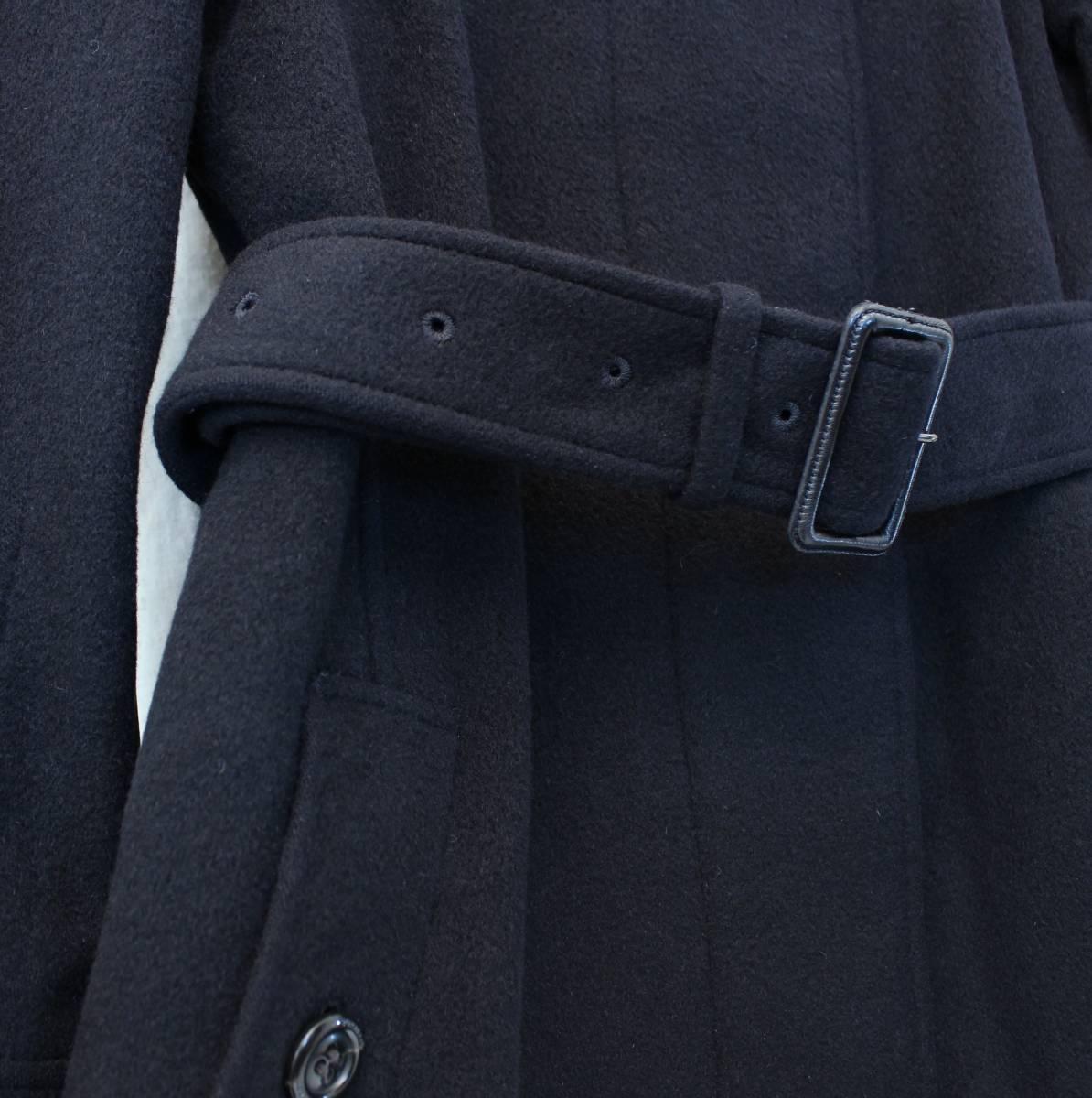 BURBERRY LONDON ANGORA BREND WOOL BELTED COAT MADE IN JAPAN/バーバリーロンドンアンゴラ混ウールベルテッドコート_画像4
