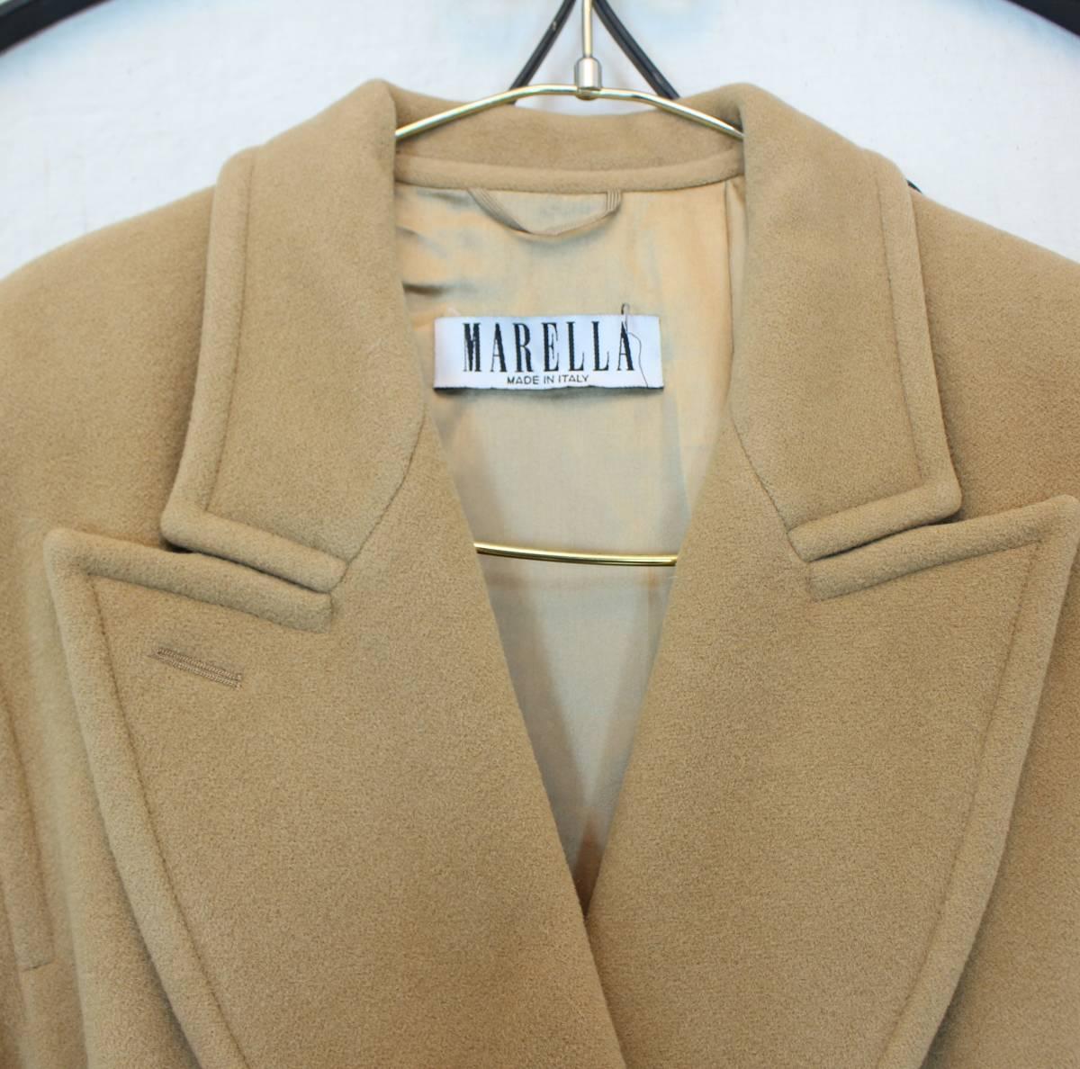 MARELLA ANGORA BREND WOOL BELTED COAT MADE IN ITALY/マレーラアンゴラ混ウールベルテッドコート_画像3