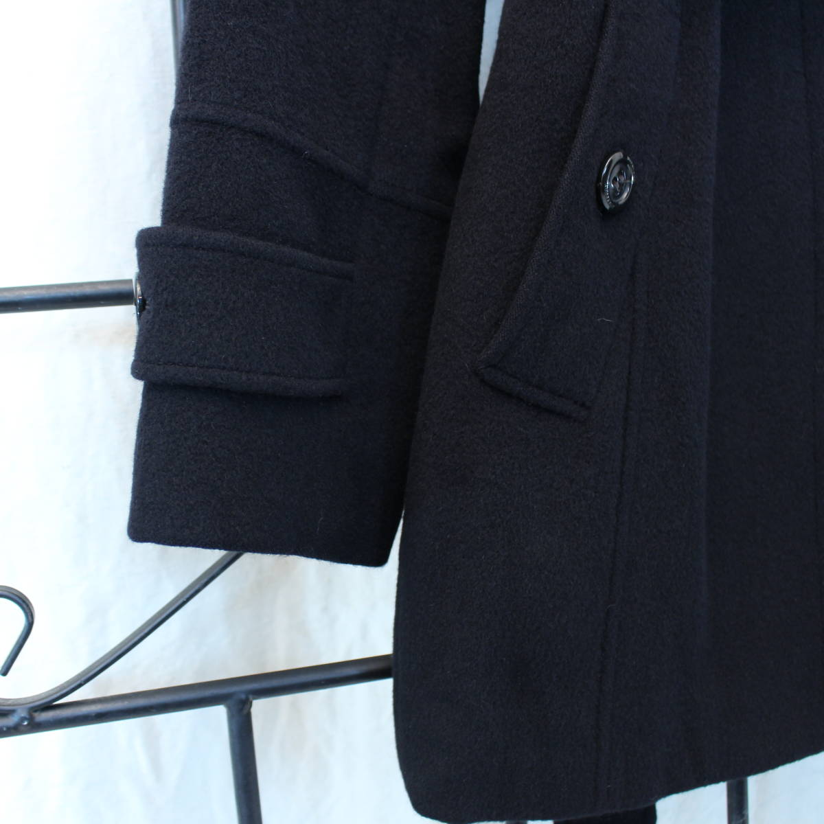 BURBERRY LONDON ANGORA BREND WOOL BELTED COAT MADE IN JAPAN/バーバリーロンドンアンゴラ混ウールベルテッドコート_画像5