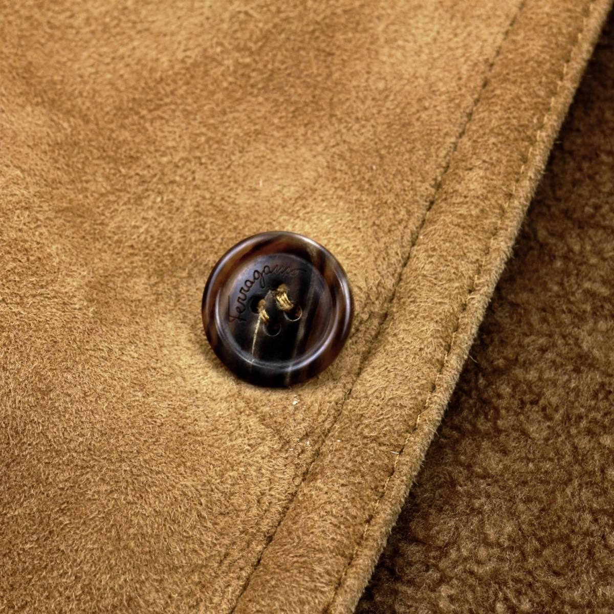 男の格上げ◎!!!「サルヴァトーレフェラガモ」最高級羊革ラムスキンを贅沢に使用したラグジュアリー溢れる至高のムートンコート 52 XL_画像5