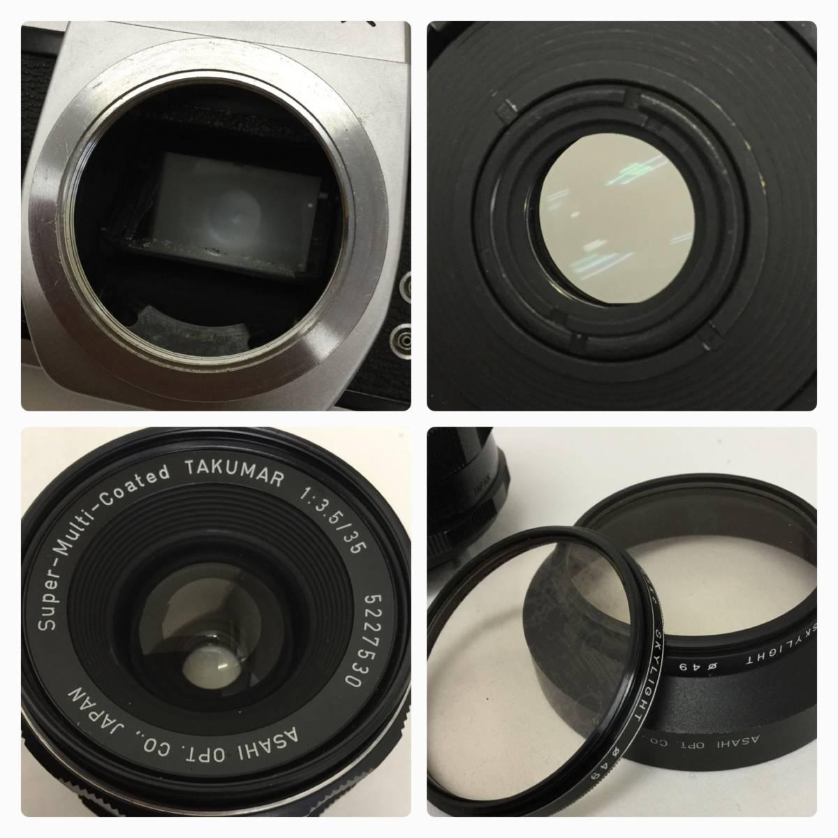 PENTAX ペンタックス ASAHI SPOTMATIC SP フィルム カメラ Coated TAKUMAR 1:3.5/35 レンズ _画像2