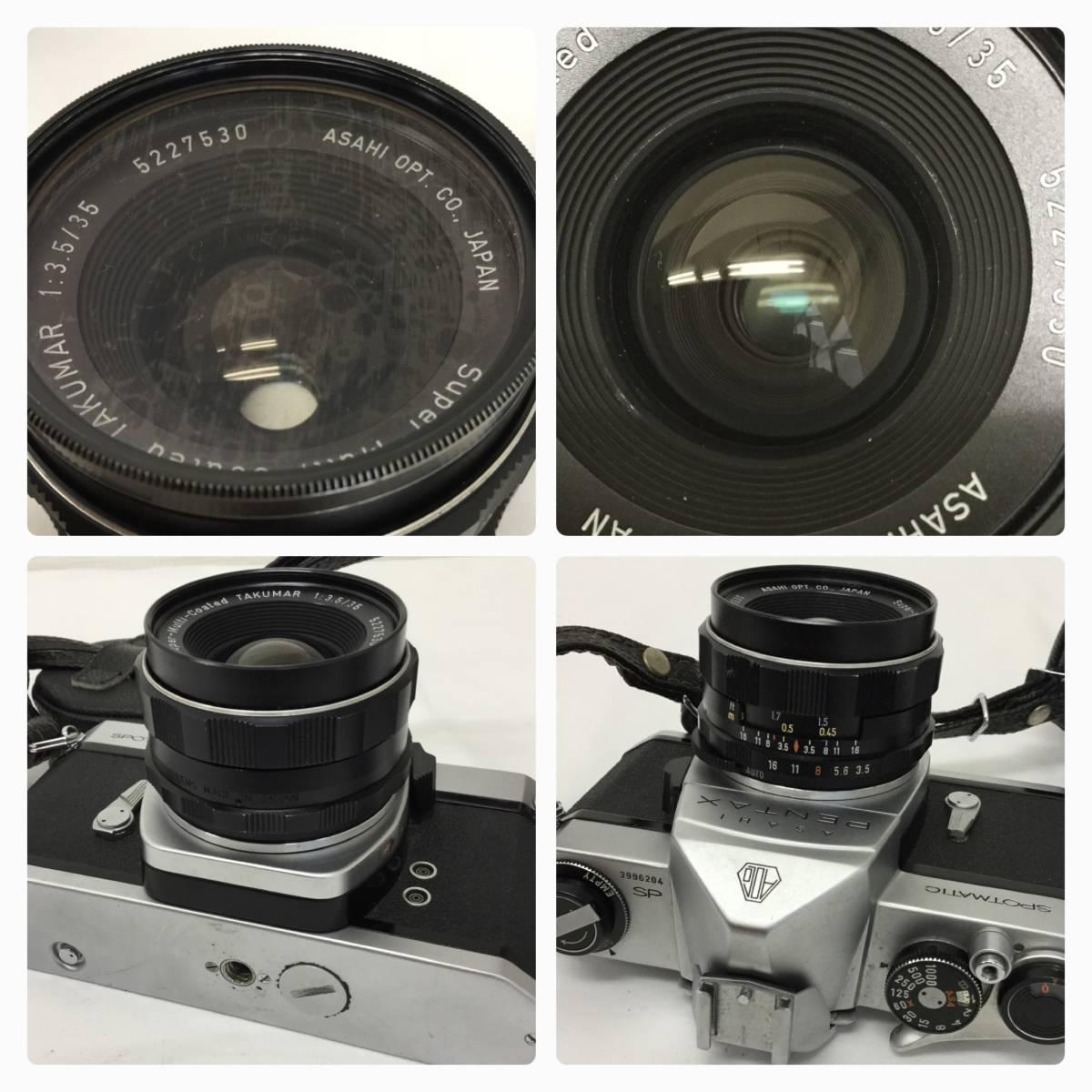 PENTAX ペンタックス ASAHI SPOTMATIC SP フィルム カメラ Coated TAKUMAR 1:3.5/35 レンズ _画像3