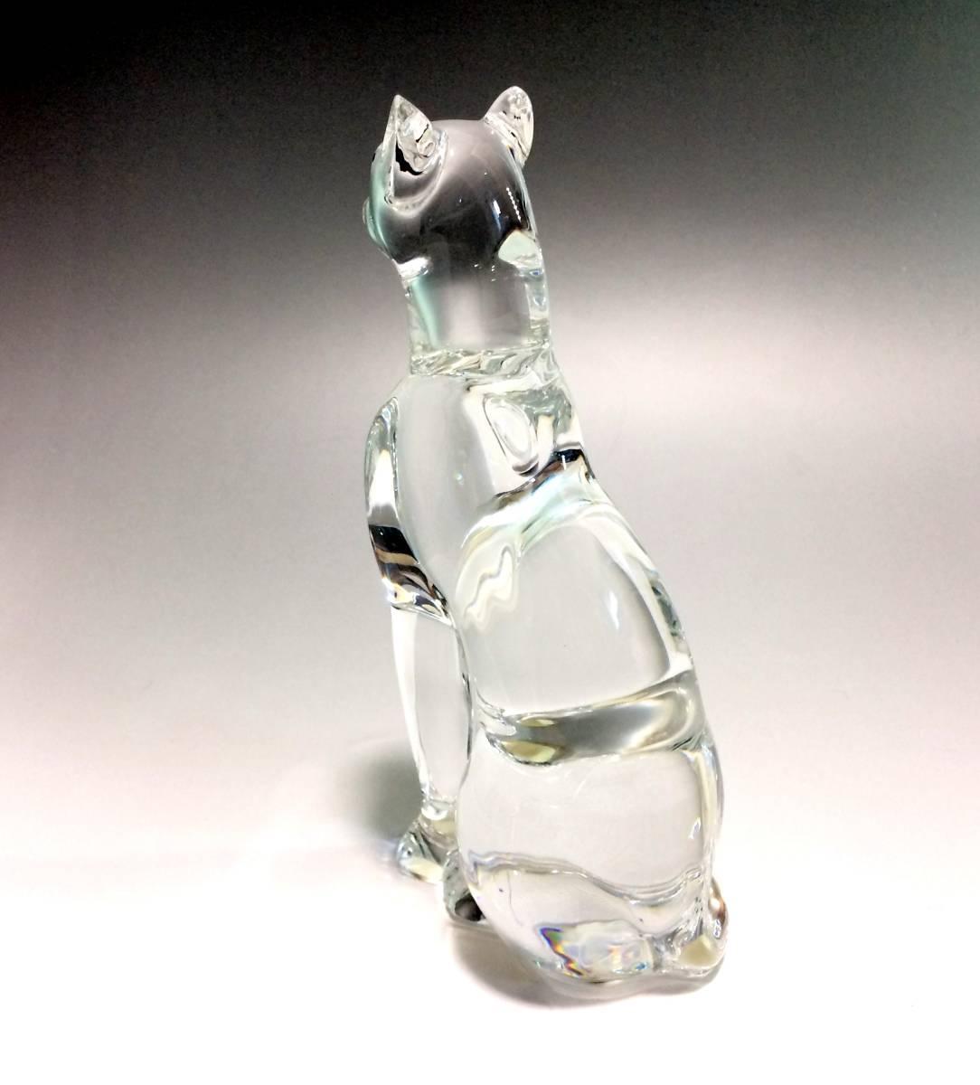 ★貴重★ バカラ Baccarat フィギュリン エジプシャンキャット クリスタル オブジェ 猫 アンティーク_画像4