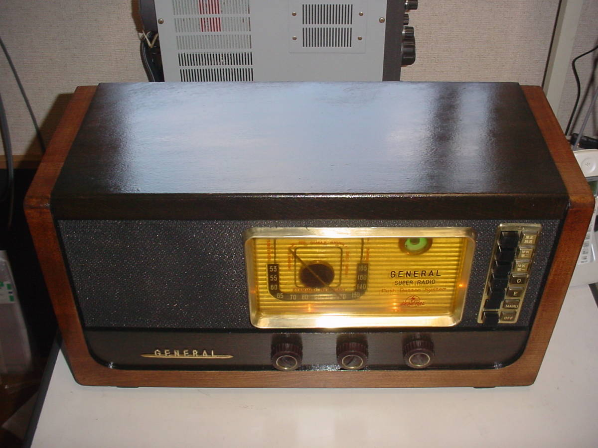高機能 ゼネラル ST管5球スーパーラジオ 6S-B1 動作機  _画像2