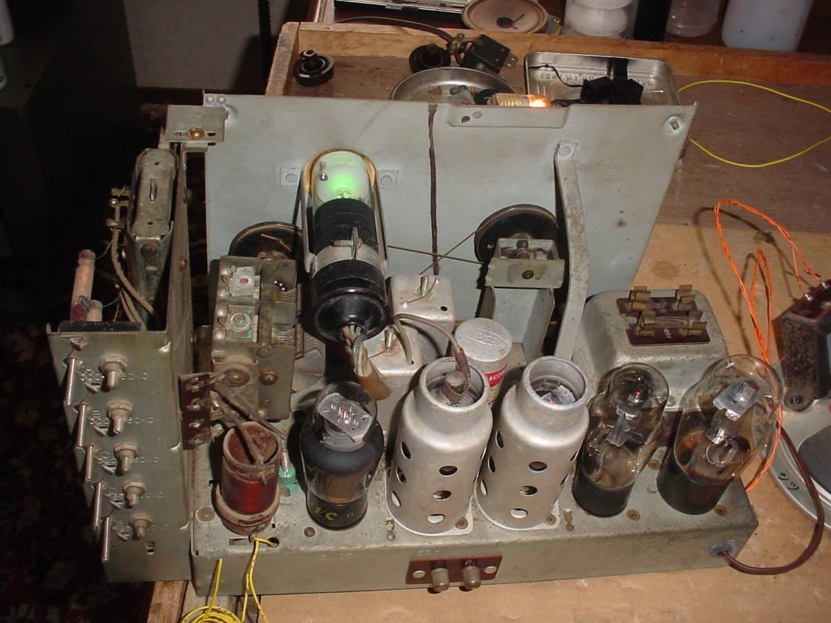 高機能 ゼネラル ST管5球スーパーラジオ 6S-B1 動作機  _画像8