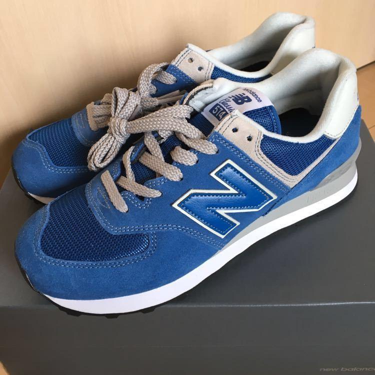 5994fb9779632 ニューバランスML574ERB 23cm クラシックブルースニーカーシューズ靴NB. 商品數量: :1