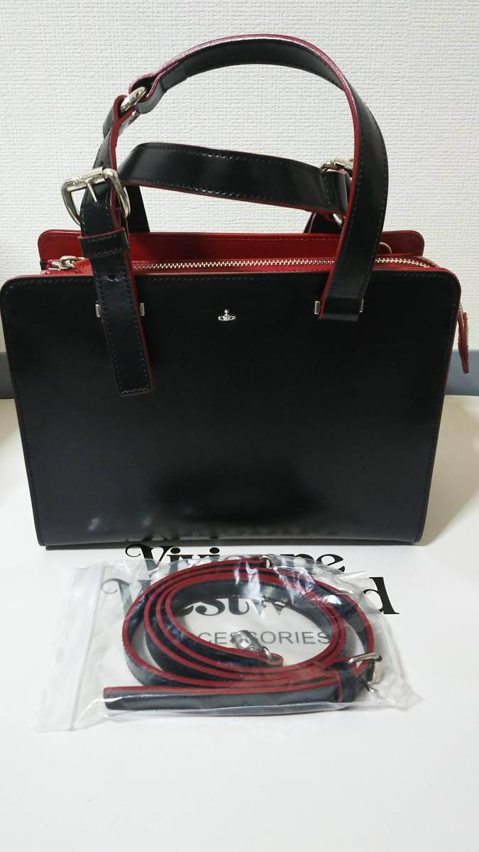 (正規品) (送料無料) ヴィヴィアン・ウエストウッド 2wayトートバッグ シンプル ブラック (Vivienne Westwood simple bk) No.1