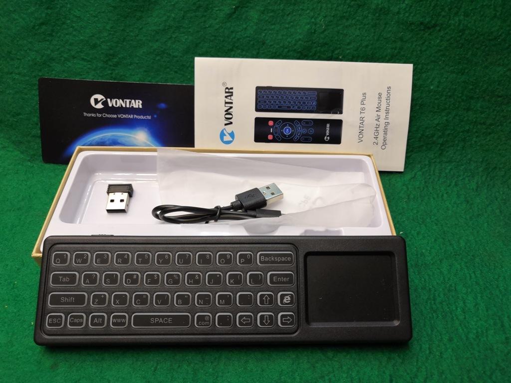 ワイヤレスマウスキーボード・エアーマウス裏側キーボードの両面仕様メーカーVONTAR充電式送料全国一律普通郵便250円_画像3