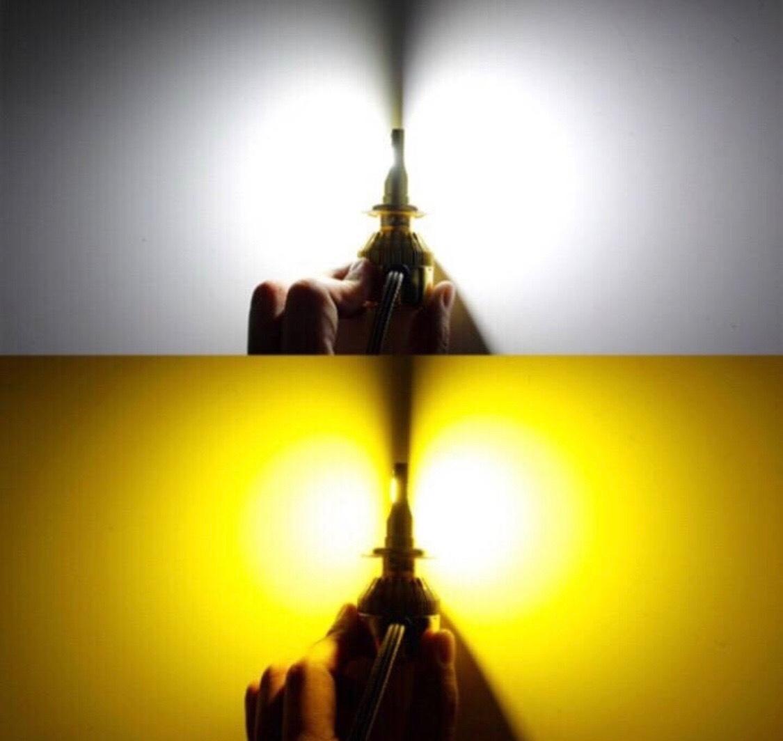 トヨタ◆2色切替 LEDフォグランプ 3000k 6000k LED・COB H8/H11-H16◆カローラ ルミオン H19.10~ NZE/ZRE15#系 専用_画像1
