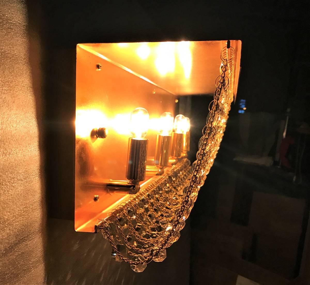 1円スタ!ナイアガラ シャンデリア 60㎝ フルゴールド クリスタルガラス レトロ デコトラ 中型 大型 トラック サロンバス _画像4