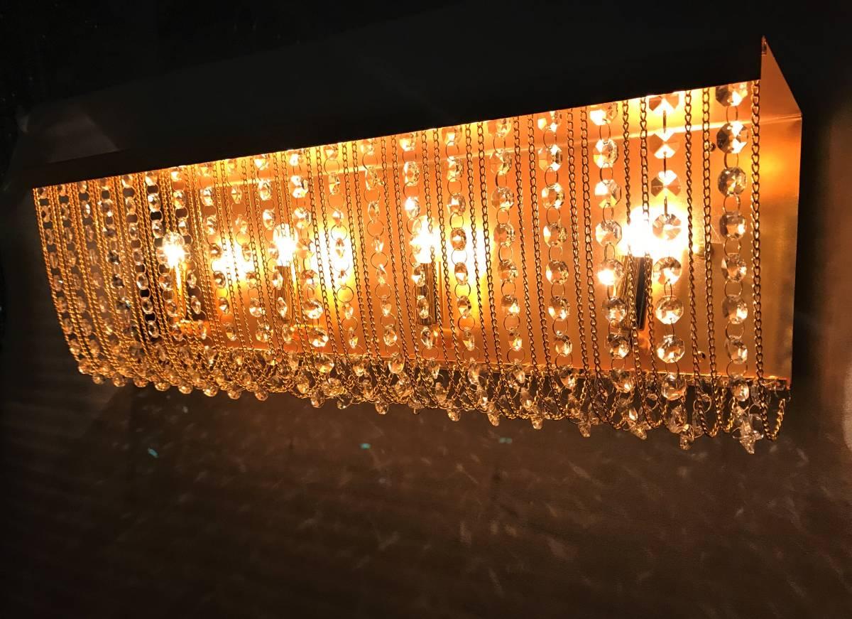 1円スタ!ナイアガラ シャンデリア 60㎝ フルゴールド クリスタルガラス レトロ デコトラ 中型 大型 トラック サロンバス
