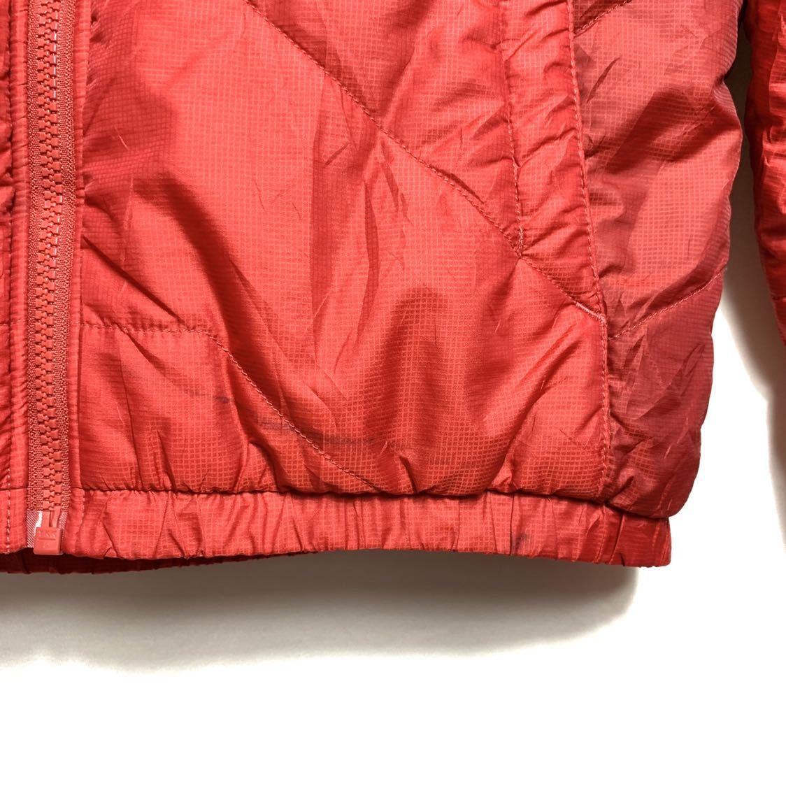 ■THE NORTH FACEノースフェイスナイロン中綿ジャケットサイズS赤レッド古着アウトドア■_画像6