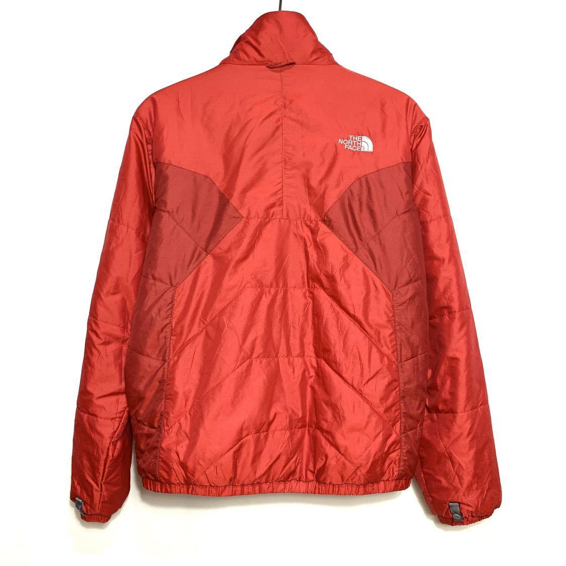 ■THE NORTH FACEノースフェイスナイロン中綿ジャケットサイズS赤レッド古着アウトドア■_画像5