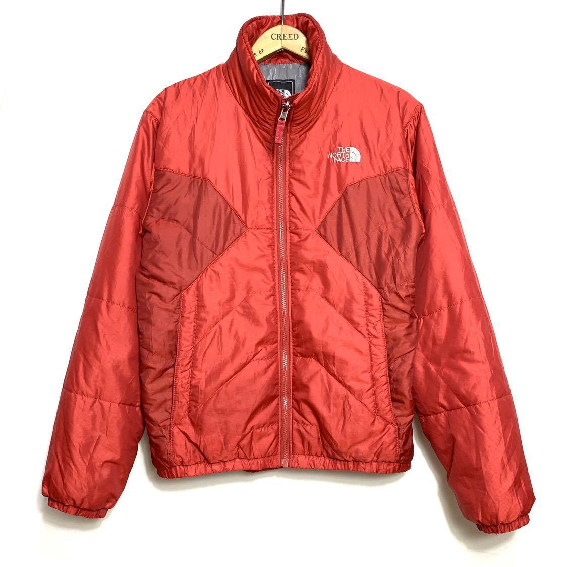 ■THE NORTH FACEノースフェイスナイロン中綿ジャケットサイズS赤レッド古着アウトドア■_画像1