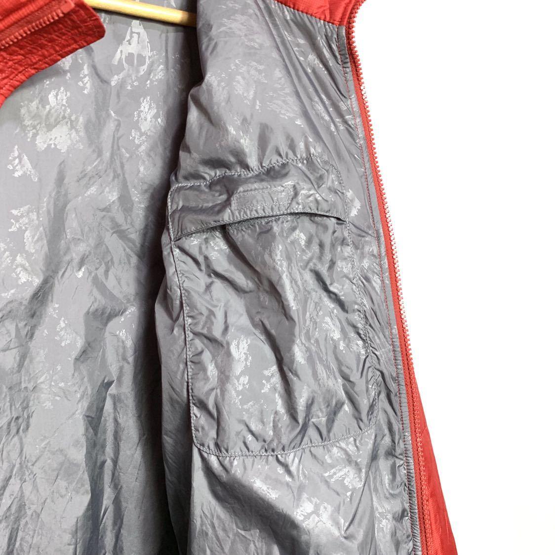 ■THE NORTH FACEノースフェイスナイロン中綿ジャケットサイズS赤レッド古着アウトドア■_画像7