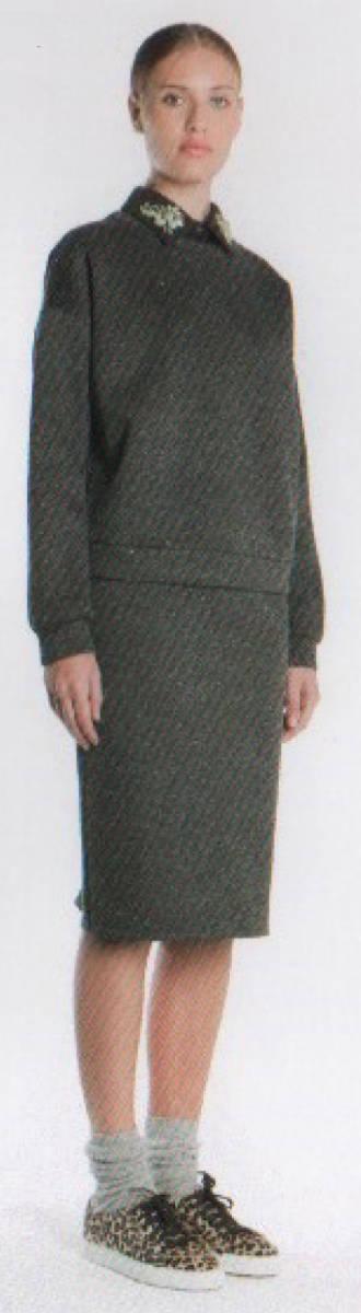 新品77%OFF マックスマーラ Max Mara デザインスカート グレー Lサイズ_こちらは柄違いの参考画像です