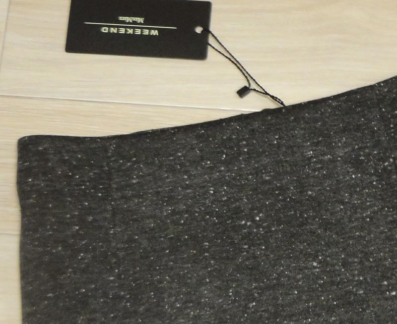 新品77%OFF マックスマーラ Max Mara デザインスカート グレー Lサイズ_画像2