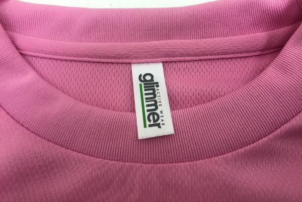Lサイズ【激レア】新品 非売品 徳島 阿波踊り公式ドライTシャツ【神の二拍子、街を舞う。】2014年版『glimmer』4.4オンス【ピンク】残14_画像3