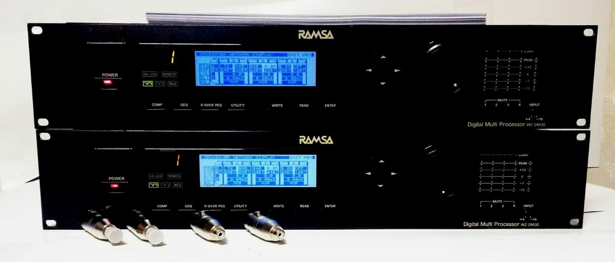 90万円 2~4way デジタルチャンネルデバイダー RAMSA WZ-DM30 ペア 動作確認済、動作不良時,返品返金対応 。Accuphase cap、取扱説明書付