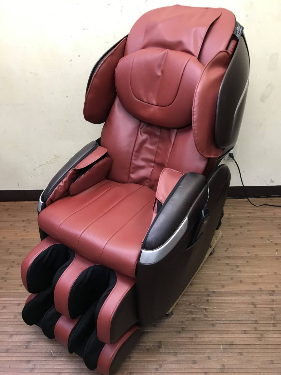 Fuji Medical Care Vessel AS 770 Cyber Relax Massage Chair 2015 Red Brown  Operation OK Beautiful Goods 21 Ten Thousand Jpy