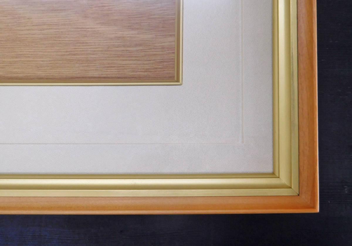 日本画用額 油絵用額 油彩画用額 M8サイズ 茶 _画像2