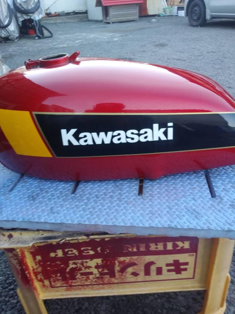 当時★カワサキ KH 250 400 B4 国内 純正 オリジナル タンク コーションラベル付き