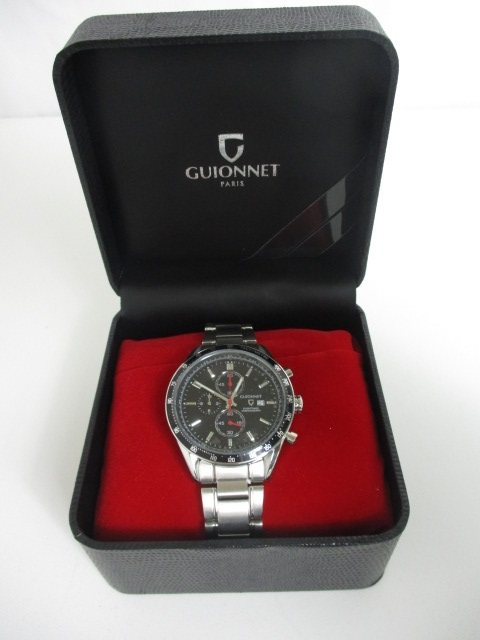 1186d693ec 31KFN 新品GUIONNET ギオネ腕時計FLIGHT TIMER CHRONOGRAPH フライトタイマータキメータークロノグラフFC42SBK.  商品數量: :1
