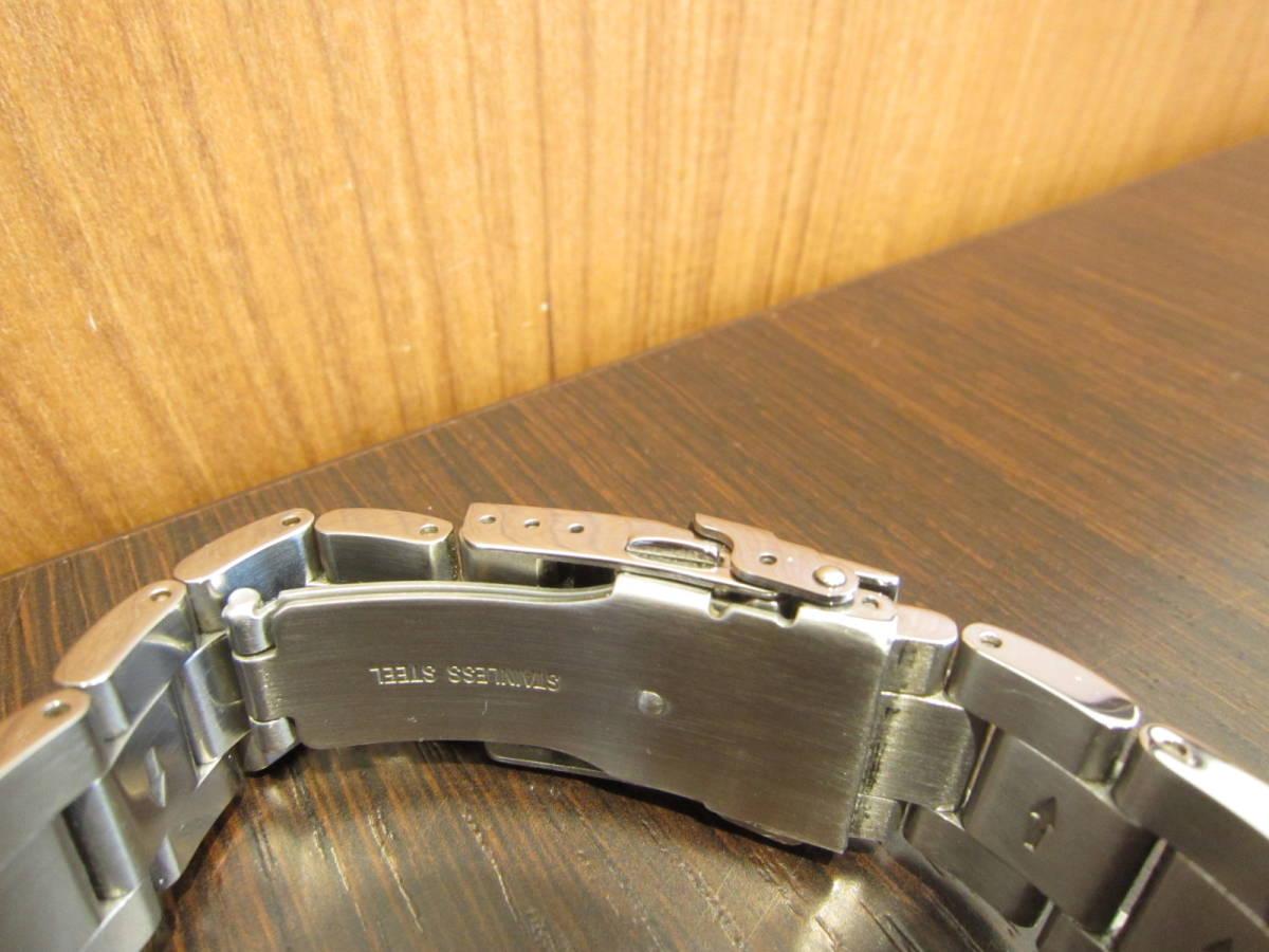 TECHNOS テクノス クロノグラフ メンズ腕時計 T4487 稼働品★c3118_画像5