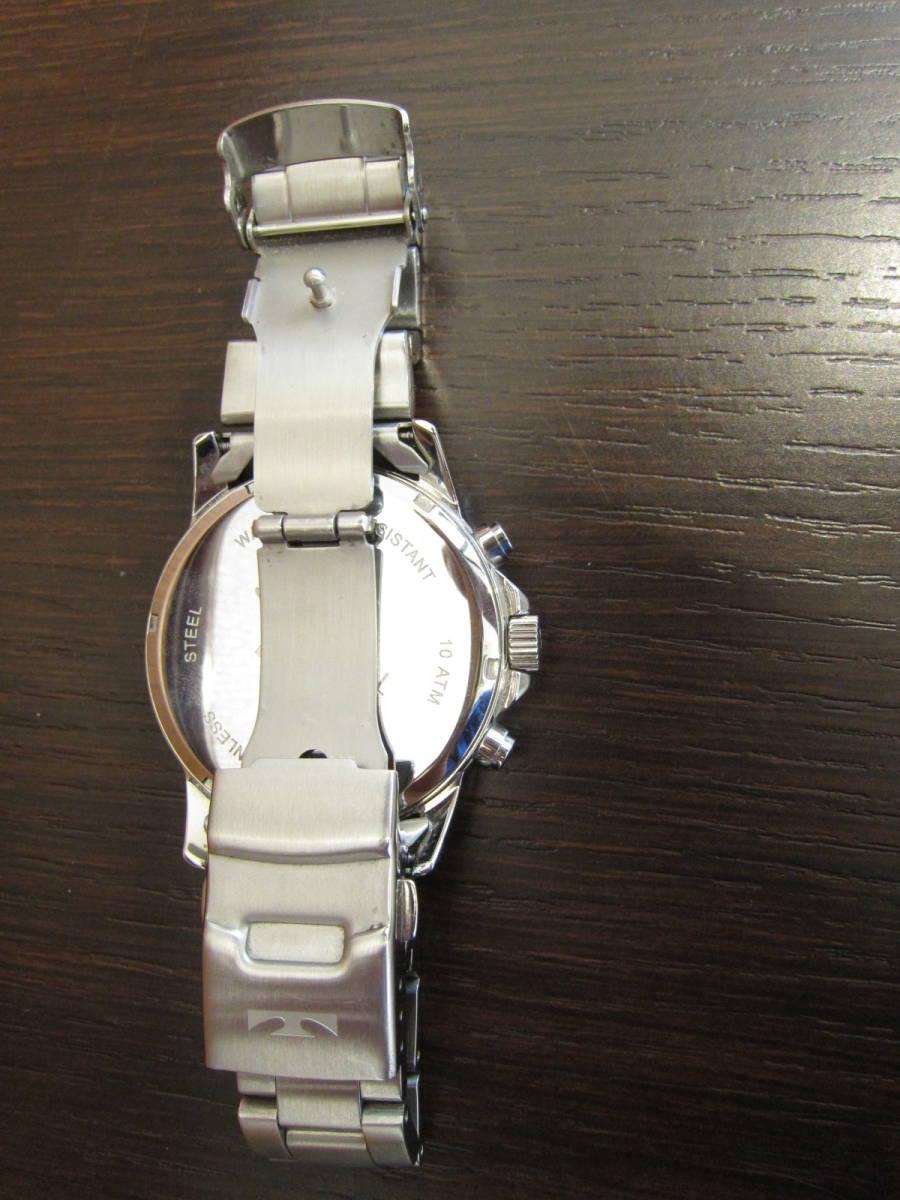 TECHNOS テクノス クロノグラフ メンズ腕時計 T4487 稼働品★c3118_画像7