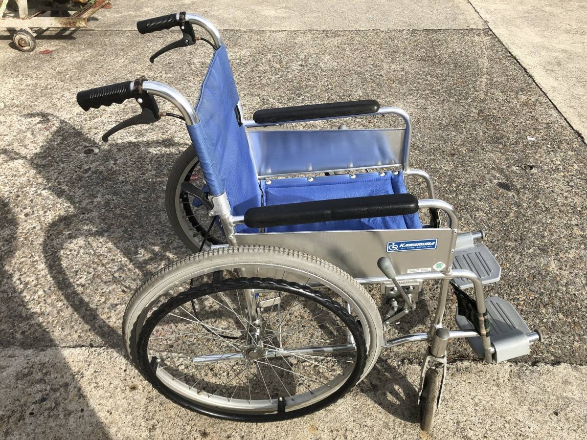 TE836 KAWAMURA カワムラサイクル 介助 車いす 車椅子 車イス_画像5
