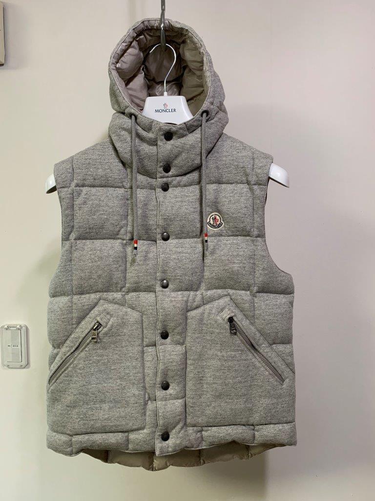 霜降りグレーの傑作 モンクレール 国内正規美品廃盤超絶人気モデル ダウン ベスト パーカー CHARTREUSE サイズ1 ジャケット コート
