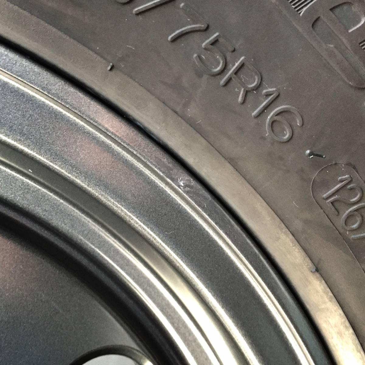 再販 ランクル70 76 2017年 BF Goodrich バリ溝 MT 285/75R16 & JAOS VICTRON TRIBE 4本セット ナットおまけ可 夏タイヤ &ホイールセット_画像6