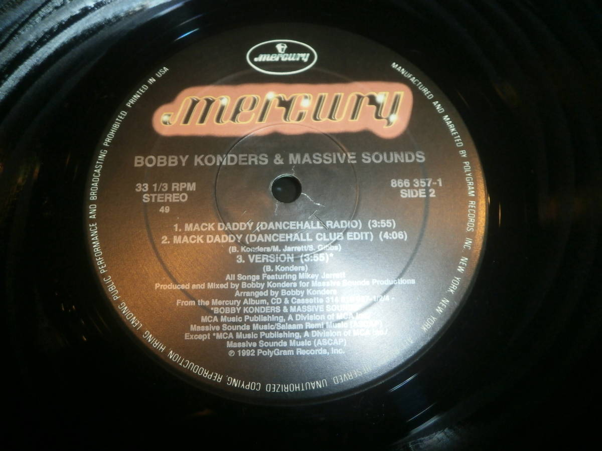 BOBBY KONDERS & MASSIVE SOUNDS feat MIKEY JARRETT / MACK DADDY /RAGGA HIP HOP/ダンスホール/RUB-A-DUB MARKET/DJ URUMA _画像3