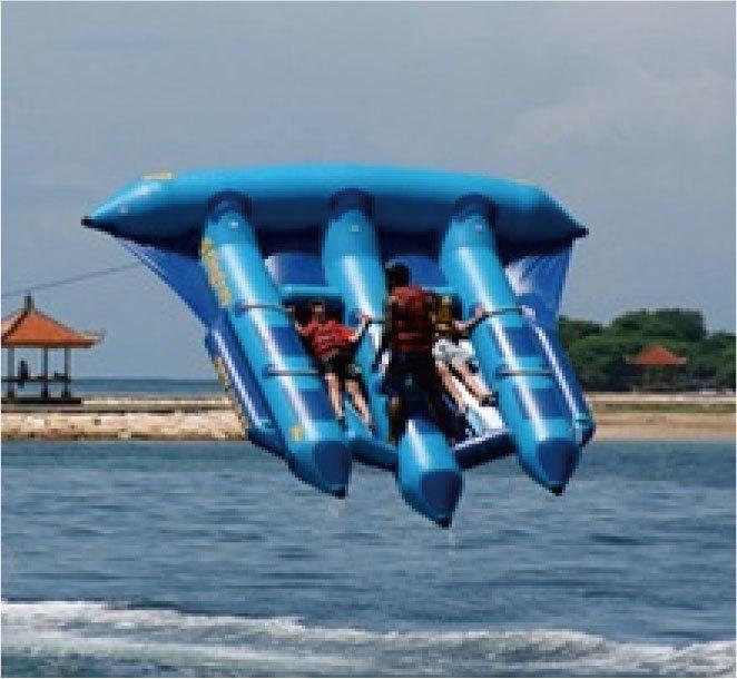 空飛ぶバナナボートです。思いっきり楽しんで!_画像3